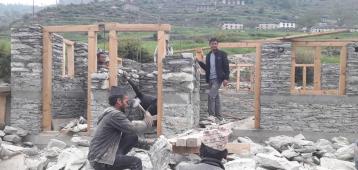 Community Techno hub Construction at Masta Rural Municipality 6 Bajhang by Sahara Nepal
